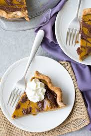 Healthy Chocolate Pumpkin Desserts by Swirled Chocolate Pumpkin Pie Giveaway Kristine U0027s Kitchen