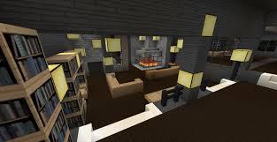 Modern Minecraft Mansion Living Room by TheFawksyArtist on