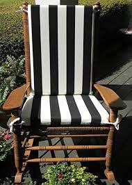 Rocking Chairs At Cracker Barrel by Amazon Com Indoor Outdoor Black U0026 White Stripe Print Rocking