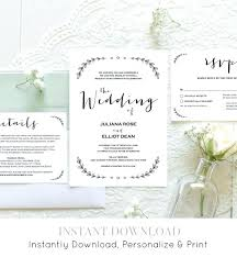 Etsy Wedding Invitation Template 6155 Also Hey I Found This Really Awesome Listing At