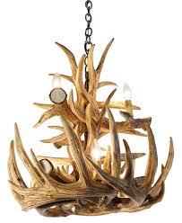 l lighting authentic looking deer antler chandelier for your