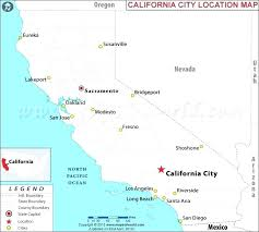 Blank Map Of Major Us Cities And Capitals Additional California