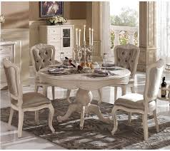 Sweet Fanciful Tables Classic Room Furniture Country Design French Round Dining Table With Candle And
