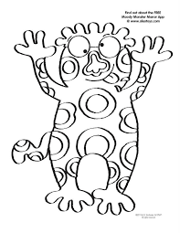 Monster Coloring Pages Printable Images Pictures