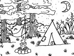 Camping Coloring Pages Printable Jamduapuluh