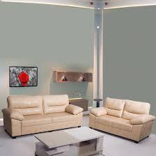 100 2 Sofa Living Room Bharat Lifestyle Legend Leatherette 3 Set Color Cream