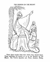 The Sermon On Mount Coloring Page