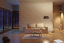 elegante wohnraum einrichtung mit holzbodenbelag und 3d