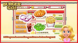 jeux de cuisine burger restaurant burger go jeu de cuisine applications android sur play