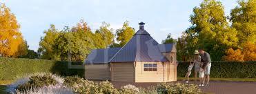 100 Log Cabin Extensions BBQ Hut 165m Extension 44mm Thick Walls