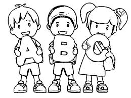 Abc Teach Alphabet Coloring Pages