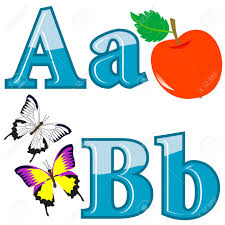 The English Alphabet With Funny Pictures Letters A B Vector
