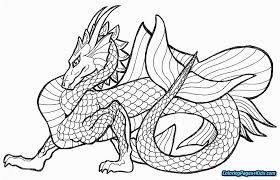 Fire Breathing Dragon Coloring Pages For Adults