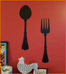 Wood Fork And Spoon Wall Hanging by Kitchen Wall Decor Fork And Spoon Inspiration Home Design Ideas