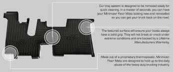 minimizer floor mats kenworth 100889 rhodes works