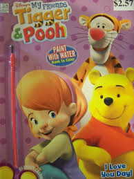 Amazon Disneys Tigger And Pooh Paint With Water Coloring Book Toys Games