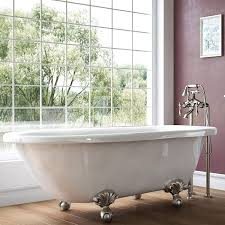 Luxury 54 Inch Small Vintage Clawfoot Tub In White, Includes Brushed ... Choosing A Shower Curtain For Your Clawfoot Tub Kingston Brass Standalone Bathtubs That We Know Youve Been Dreaming About Best Bathroom Design Ideas With Fresh Shades Of Colorful Tubs Impressive Traditional Style And 25 Your Decorating Small For Bathrooms Excellent I 9 Ways To With Bathr 3374 Clawfoot Tub Stock Photo Image Crown 2367914