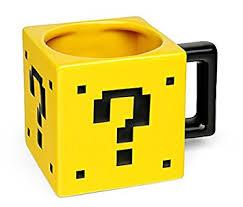 Mario Bros Question Block Lamp by Amazon Com Super Mario Bros 17oz Ceramic Power Up Mystery Box