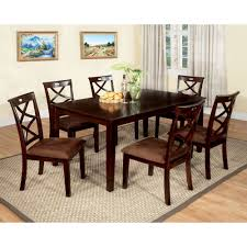 American Freight Dining Room Sets by Furniture Of America Cm3420t 7pk Baxter Dining Set The Mine