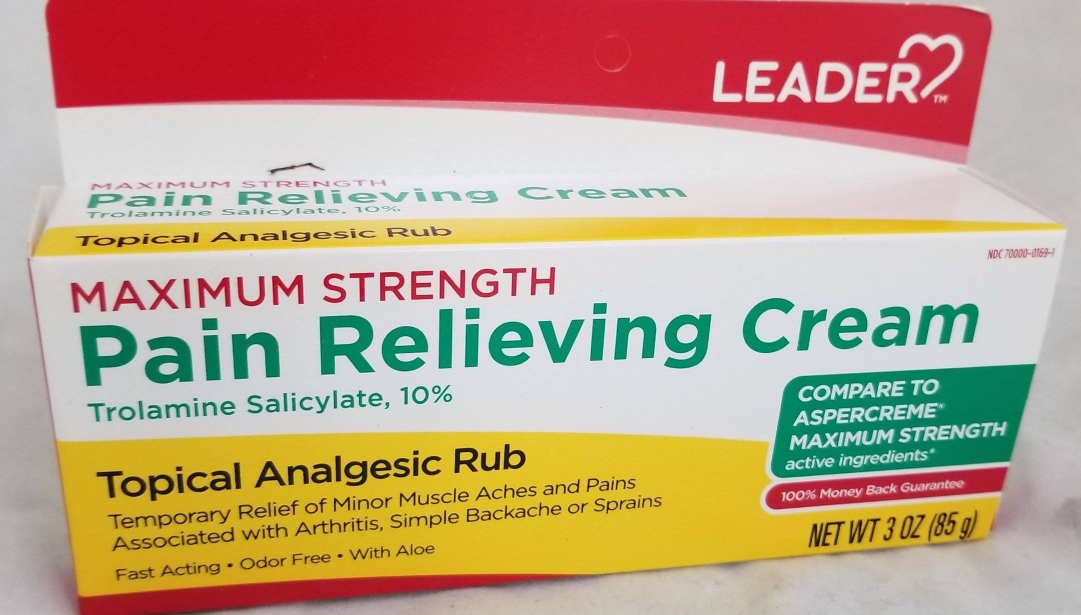 Leader Maximum Strength Pain Relieving Cream