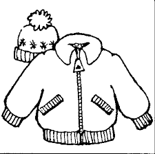 Coat clipart black and white Pencil and in color coat clipart