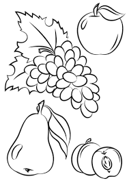 Click To See Printable Version Of Autumn Fruits Coloring Page