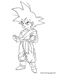 Cool Dragon Ball Gohan Coloring Page Pages