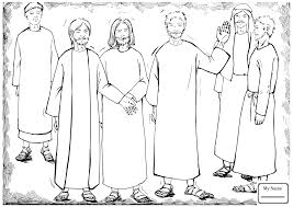 Coloring Pages For Kids Christianity Bible Jesus Healing Peter S Mother In Law Saint
