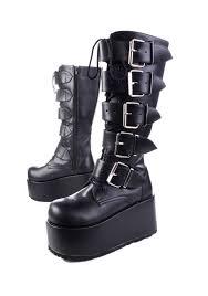 pleaser ripsaw 518 men u0027s unisex 4 inch platform 5 strap knee boots