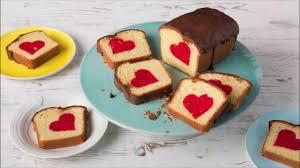 rührkuchen mit herz inside cake