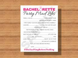 Halloween Mad Libs by Bachelorette Party Mad Libs Printable Bachelorette Party Mad