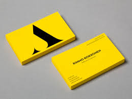 Logo And Business Card With A Yellow Board Black Ink Colour Palette Designed By Bond