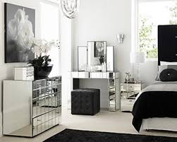 Bedroom Ideas The Enchanting Mirrored Furniture Sets