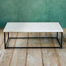 White Mosaic Coffee Table Gardenista