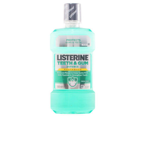 Listerine Teeth and Gum Defence Mouthwash - Fresh Mint, 500ml