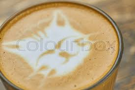Latte Art Cat Coffee Foam Macro Muzzle Stock Photo