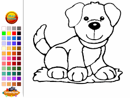 Dog Coloring Book Games