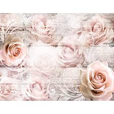 vlies fototapete blumen rosa weiß tapete wandbilder
