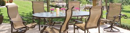 Aluminum Sling Stackable Patio Chairs by Homecrest Palisade Sling Steel Arm Swivel Rocker High Back Dining