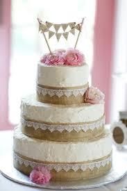 Wedding Cake Burlap Lace