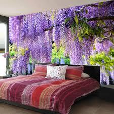 nach poster druck 3d romantische lila blume reben wand malerei wohnzimmer schlafzimmer foto hintergrund wandbild tapete decor