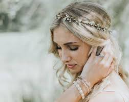 Wedding Flower Crown Veil Boho Soft