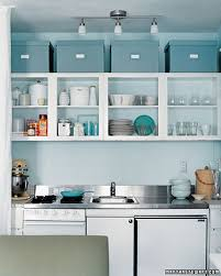 15 Make Use Of The Area Between Ceiling And Your Cupboard By Organizing Kitchen With Storage Boxes