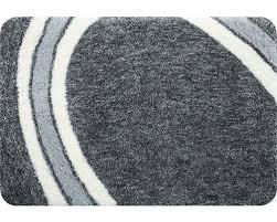 wc vorleger spirella curve grau 55x55 cm