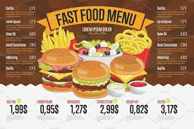 Fast Food Menu Template Burger Chalk 02 S Necessary Although
