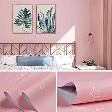 nette rosa wallpaper baby mädchen jungen zimmer decor 3d selbst adhesive schwarz weiß sterne pvc wand papiere für kinder schlafzimmer qz167