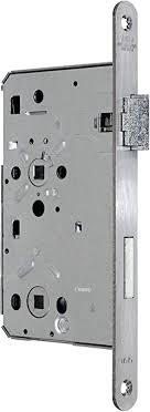 bks badezimmer türschloss objektqualität 0515 kl iii mit vierkant 60 78 8 edelstahl stulp 20 x 235mm abgerundet din rechts incl sn tec