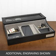 Mens Leather Dresser Valet by Compact Mens Valet Box 79 Men U0027s Valet Box Leather Zoom Home