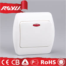 electric wall switch with led indicator light abs material luxury
