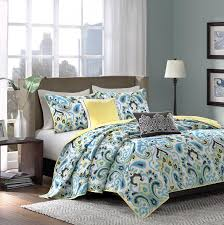 Bedroom Teal And Gray Bedding Brown forter Dark With